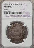 Mexico, Mexico: Charles III 4 Reales 1763 Mo-MM VF Details (Bent) NGC,...