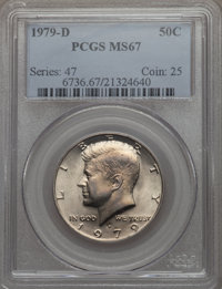 1979-D 50C MS67 PCGS. PCGS Population (36/0). NGC Census: (5/0). Mintage: 15,815,422. From The Bristol Collection.&l...