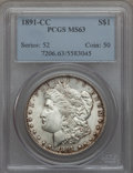 1891-CC $1 MS63 PCGS. PCGS Population (5265/4125). NGC Census: (1654/1302). Mintage: 1,618,000. CDN Wsl. Price for probl...