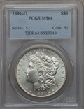 1891-O $1 MS64 PCGS. PCGS Population (1603/110). NGC Census: (1047/69). Mintage: 7,954,529. CDN Wsl. Price for problem f...