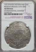 Spanish Netherlands:Brabant, Spanish Netherlands: Brabant. Philip IV Patagon 1622 AU Details(Environmental Damage) NGC,...
