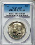 1966 50C SMS, Doubled Die Obverse, FS-106, SP67 PCGS. PCGS Population (15/1). NGC Census: (0/0). Mintage: 2,200,000. F...