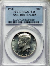 1966 50C SMS, Doubled Die Obverse, FS-102, SP67 Cameo PCGS. PCGS Population (4/0). NGC Census: (0/0). From The Bristol...