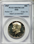 1967 50C SMS SP67 Deep Cameo PCGS. PCGS Population (93/14). NGC Census: (174/19). From The Bristol Collection....(PCGS#...