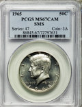 1965 50C SMS MS67 Cameo PCGS. PCGS Population (168/5). NGC Census: (436/39). From The Bristol Collection....(PCGS# 86845...