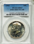 SMS Kennedy Half Dollars, 1966 50C Doubled Die Obverse, FS-105, SP67 PCGS. PCGS Population (5/0). . From The Bristol Collection...
