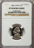 Proof Jefferson Nickels, 1981-S 5C Type Two PR70 Ultra Cameo NGC....