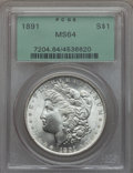Morgan Dollars: , 1891 $1 MS64 PCGS. PCGS Population (1996/171). NGC Census: (1194/112). Mintage: 8,694,206. CDN Wsl. Price for problem free ...