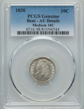 Bust Dimes, 1830 10C Medium -- Bent -- PCGS Genuine. AU Details. NGC Census: (6/142). PCGS Population (11/149). Mintage: 510,000. CDN W...