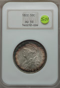 1822 50C AU50 NGC. NGC Census: (23/308). PCGS Population (88/471). Mintage: 1,559,573. CDN Wsl. Price for problem free N...