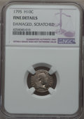 Early Half Dimes: , 1795 H10C -- Scratched, Damaged -- NGC Details. Fine. NGC Census:(10/299). PCGS Population (15/516). Mintage: 78,600. CDN ...