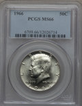 Kennedy Half Dollars, 1966 50C MS66 PCGS. PCGS Population (142/10). NGC Census: (145/2). Mintage: 108,984,928. . From The Bristol Collection....