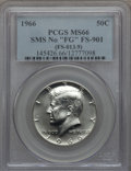 SMS Kennedy Half Dollars, 1966 50C SMS, No FG, FS-901, SP66 PCGS. PCGS Population (45/8). . From The Bristol Collection....