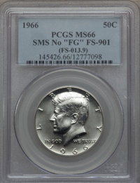 1966 50C SMS, No FG, FS-901, SP66 PCGS. PCGS Population (45/8). NGC Census: (0/0). From The Bristol Collection....(PCGS#...