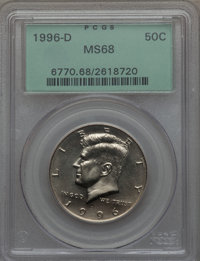1996-D 50C MS68 PCGS. PCGS Population (21/0). NGC Census: (6/0). From The Bristol Collection....(PCGS# 6770)