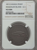 Canada:Magdalen Island, Canada: Magdalen Island. British Colonial Penny Token 1815 VG8Brown NGC,...
