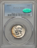 Washington Quarters, 1938 25C MS67 PCGS. CAC. PCGS Population (58/0). NGC Census:(56/1). Mintage: 9,480,045. CDN Wsl. Price for problem free NG...