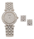 Estate Jewelry:Watches, Van Cleef & Arpels Lady's Diamond, White Gold Lady Arpels Watch. ... (Total: 3 Pieces)