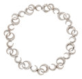 Estate Jewelry:Necklaces, Diamond, White Gold Necklace, Fred, French. ...