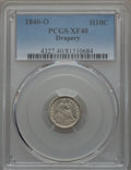 1840-O H10C Drapery XF40 PCGS. PCGS Population (6/32). NGC Census: (6/26). Mintage: 240,000. CDN Wsl. Price for problem...
