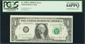 Error Notes:Ink Smears, Fr. 1907-G $1 1969D Federal Reserve Note. PCGS Very Choice New64PPQ.. ...