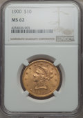 Liberty Eagles, 1900 $10 MS62 NGC. NGC Census: (2737/2105). PCGS Population (1847/1210). Mintage: 293,960. CDN Wsl. Price for problem free ...