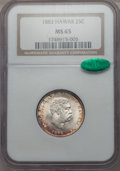 Coins of Hawaii , 1883 25C Hawaii Quarter MS65 NGC. CAC. NGC Census: (152/127). PCGS Population (186/134). Mintage: 242,600....