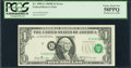 Error Notes:Shifted Third Printing, Fr. 1905-G $1 1969B Federal Reserve Note. PCGS Choice About New 58PPQ.. ...