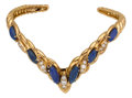 Estate Jewelry:Bracelets, Diamond, Lapis Lazuli, Gold Bracelet, Oscar Heyman Bros.. ...
