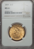 1899 $10 MS61 NGC. NGC Census: (4526/15840). PCGS Population (2722/7937). Mintage: 1,262,305. From The Pennsylvan...(PCG...