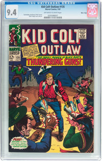 Kid Colt Outlaw #135 Massachusetts Pedigree (Atlas/Marvel, 1967) CGC NM 9.4 Off-white to white pages