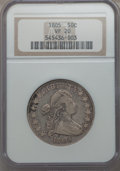 1805 50C VF20 NGC. NGC Census: (17/201). PCGS Population (46/381). Mintage: 211,722. CDN Wsl. Price for problem free NGC...
