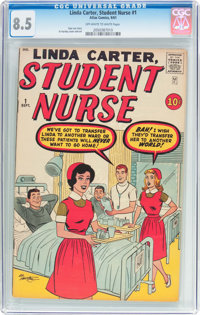 Linda Carter, Student Nurse #1 (Atlas, 1961) CGC VF+ 8.5 Off-white to white pages