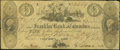 Obsoletes By State:Ohio, Columbus, OH- Franklin Bank of Columbus Counterfeit $5 Oct. 8,1834. ...