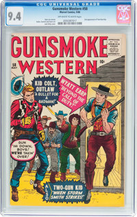 Gunsmoke Western #58 (Marvel, 1960) CGC NM 9.4 Off-white to white pages