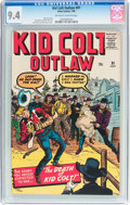 Silver Age (1956-1969):Western, Kid Colt Outlaw #91 (Marvel, 1960) CGC NM 9.4 Off-white to white pages....