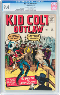 Kid Colt Outlaw #91 (Marvel, 1960) CGC NM 9.4 Off-white to white pages