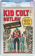 Silver Age (1956-1969):Western, Kid Colt Outlaw #97 (Atlas/Marvel, 1961) CGC VF+ 8.5 Off-white towhite pages....