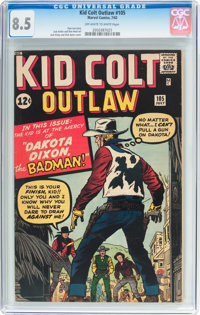 Kid Colt Outlaw #105 (Atlas/Marvel, 1962) CGC VF+ 8.5 Off-white to white pages