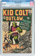 Silver Age (1956-1969):Western, Kid Colt Outlaw #107 (Atlas/Marvel, 1962) CGC VF+ 8.5 Off-white towhite pages....