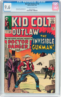 Kid Colt Outlaw #116 (Atlas/Marvel, 1964) CGC NM+ 9.6 Off-white to white pages
