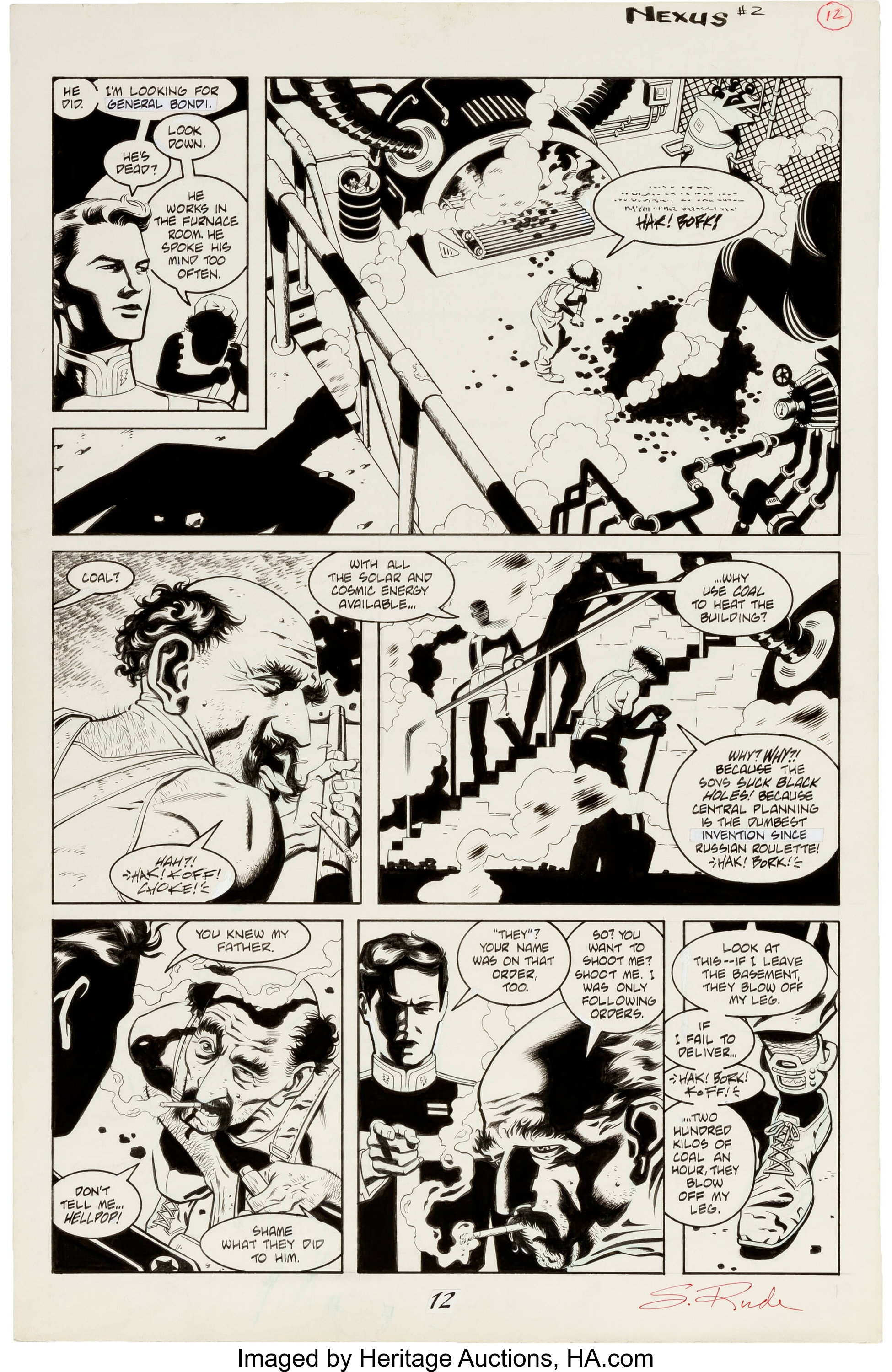 Steve Rude and Gary Martin Nexus: Executioner's Song #2 Story Page