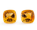 Gems:Faceted, Gemstone: Citrine Matched Pair - 10.32 Ct.. Brazil. 11 x 11 x 7.2 mm. ... (Total: 2 Items)