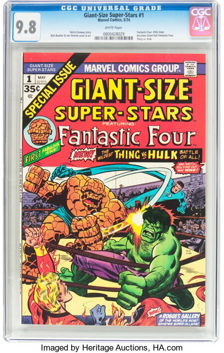 Giant-Size Super-Stars #1 (Marvel, 1974) CGC NM/MT 9.8 White pages....