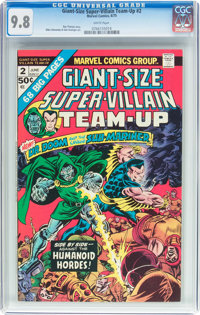 Giant-Size Super-Villain Team-Up #2 (Marvel, 1975) CGC NM/MT 9.8 White pages