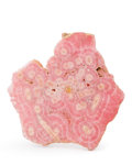 Lapidary Art:Carvings, Stalactitic Rhodochrosite. Argentina. 3.43 x 3.77 x 0.20 inches(8.71 x 9.57 x 0.50 cm). ...