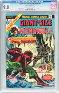 Bronze Age (1970-1979):Horror, Giant-Size Werewolf By Night #5 (Marvel, 1975) CGC NM/MT 9.8Off-white to white pages....
