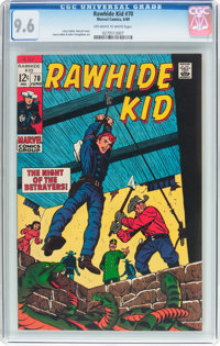 Rawhide Kid #70 (Marvel, 1969) CGC NM+ 9.6 Off-white to white pages