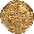 Italy, Italy: Venice. Francesco Foscari (1423-57) gold Ducat ND MS64NGC,...