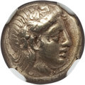 Ancients:Greek, Ancients: LESBOS. Mytilene. Ca. 377-326 BC. EL sixth stater orhecte (2.52 gm). ...